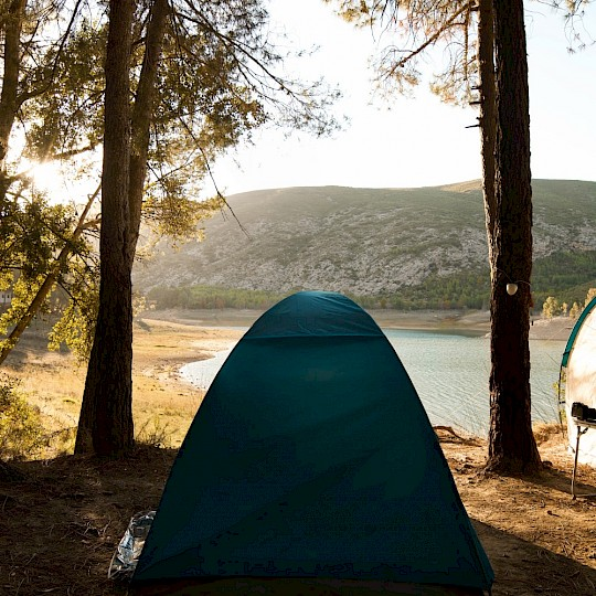 Wild camping by the river