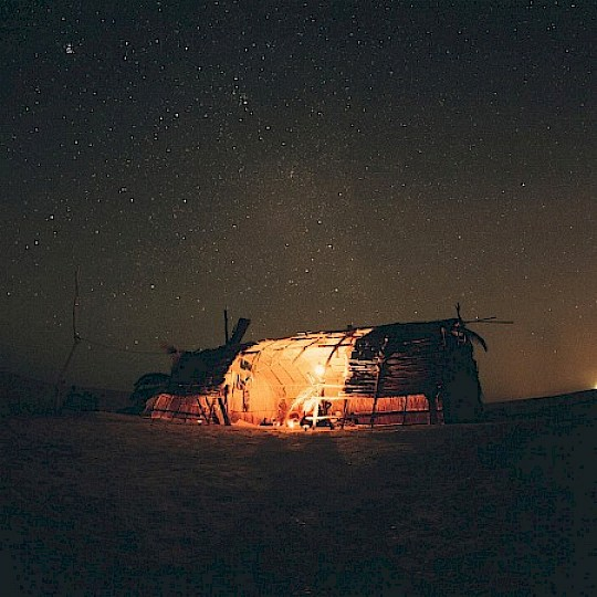 Camping ground in the desert
