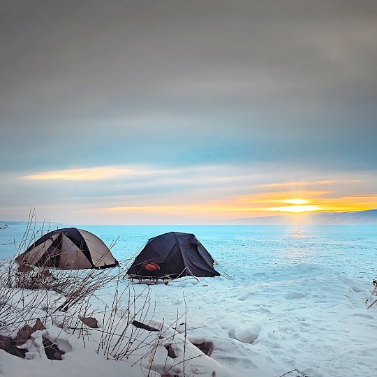 Wild camping in Russia
