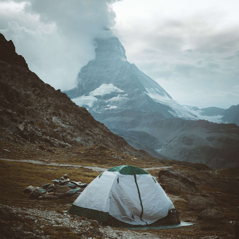 Wild camping in Switzerland
